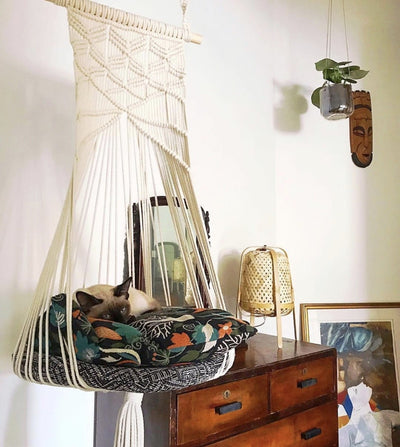 Macrame Wall Hanging Cat Bed
