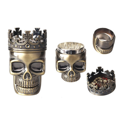 3 Layers Skull Metal Herb Spice Grinder