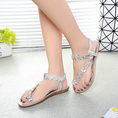 Women's Summer Flower Bead Sandals