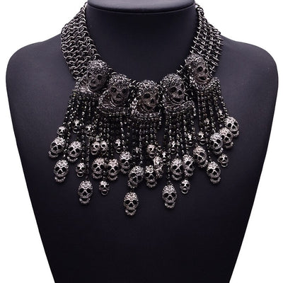 Necklace Skeleton Head Short Chain Female Fashion Accessories Collar Skull Necklace