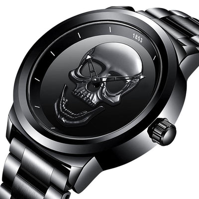 Men's 3D Skull Watch