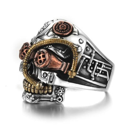 Stainless Steel Vintage Skull Steampunk Skull Ring