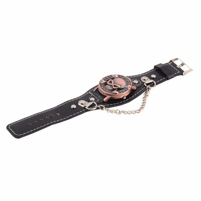 Skull Cover Leather Watch