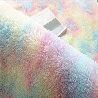 Fluffy Rainbow Carpet