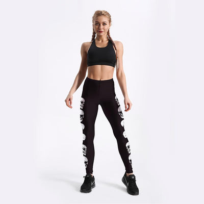 Skull Exercise Fitness Leggings