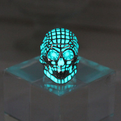 Glow in the Dark Skull Luminous Ring