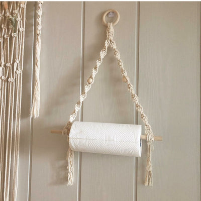 Macrame Toilet Paper Holder