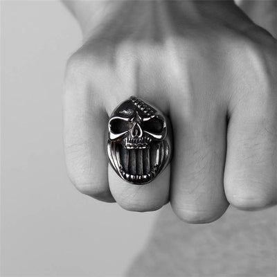 The Last Laugh Skull Ring