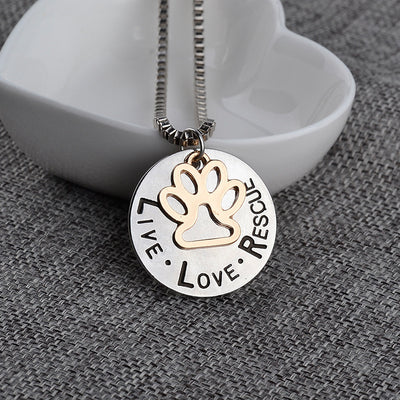Rescue Paw Print Necklace