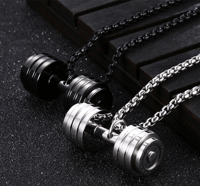 Sebastian Stainless Steel Dumbbell Necklace