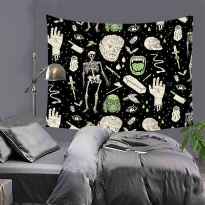 Sugar Skull Tapestry Home Decoration