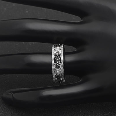 Unique Black Skull Ring