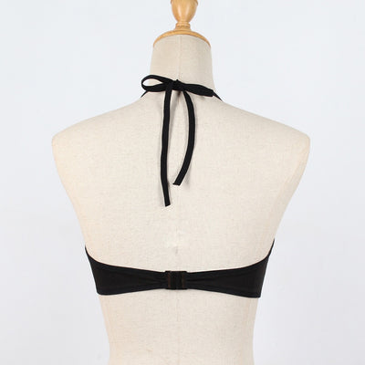 Sleeveless Halter Casual Gothic Crop Top