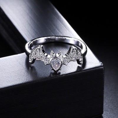 Cubic Zirconia Bath Gothic Ring