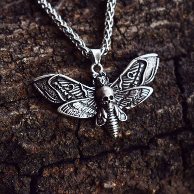 dead head Skull Moth necklace