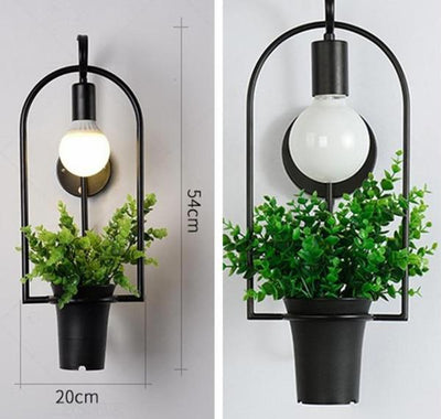 Brielle Modern Nordic Planter Wall Lamp