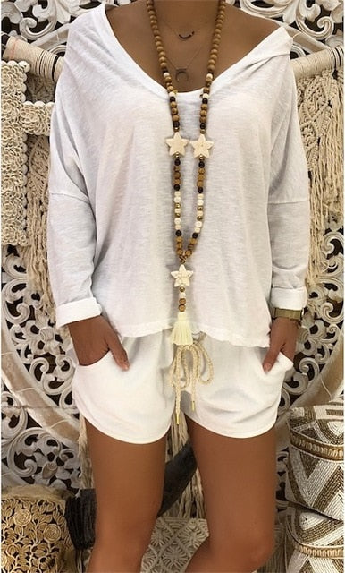 Skull Thin Sequin Sweatshirt Oversized Hoodie