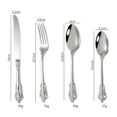 Royal Silver & Gold Cutlery Set