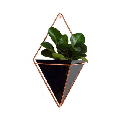 Geometric Iron Wall Vase