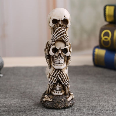 Resin Craft Human Skull Statue High Quality Creative Statue Sculpture