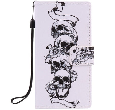 Skull Leather Phone Wallet