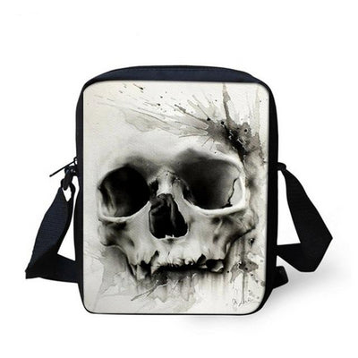 Punk Skull Casual Mini Crossbody Bag