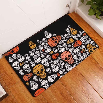 Skull Waterproof Door Mat