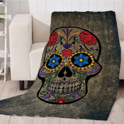 Skull Head Soft Plush Throw Blanket