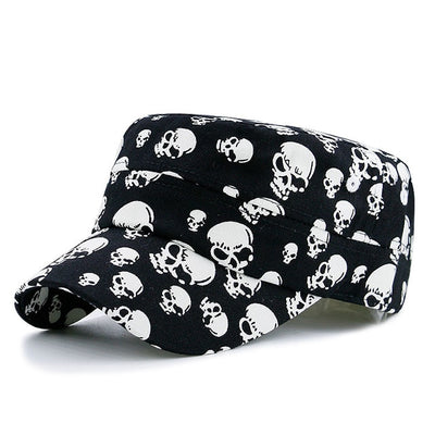 Black Cool Skull Baseball Caps