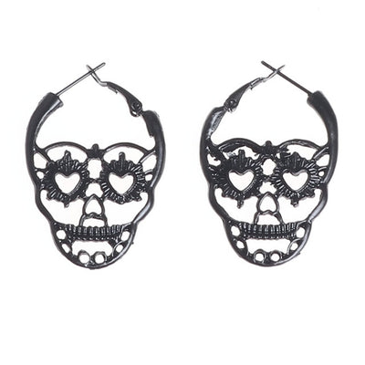 Hollow Gothic Hoop Earrings