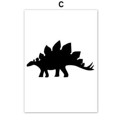 Dinosaur Rawrsome Canvas Style Posters