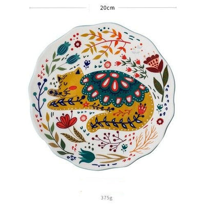 Artful Cat Ceramic Plate