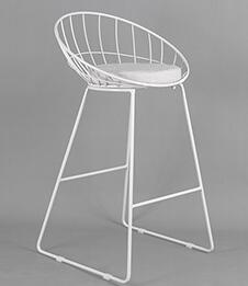 Thierry - Iron Hollow Out Frame Bar Stool