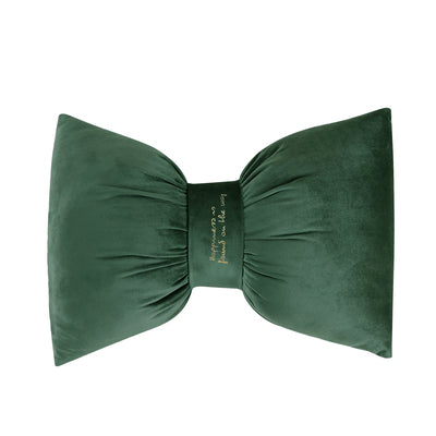 Aria - Bow Knot Neck Support Velvet Pillow