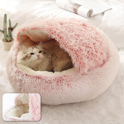 Fluffy Marshmallow Cat & Dog Bed With Roof - 2021 Edition