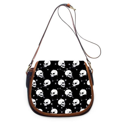 Flower Skull Printed Casual Stylish Shoulder Bags 18 Patterns