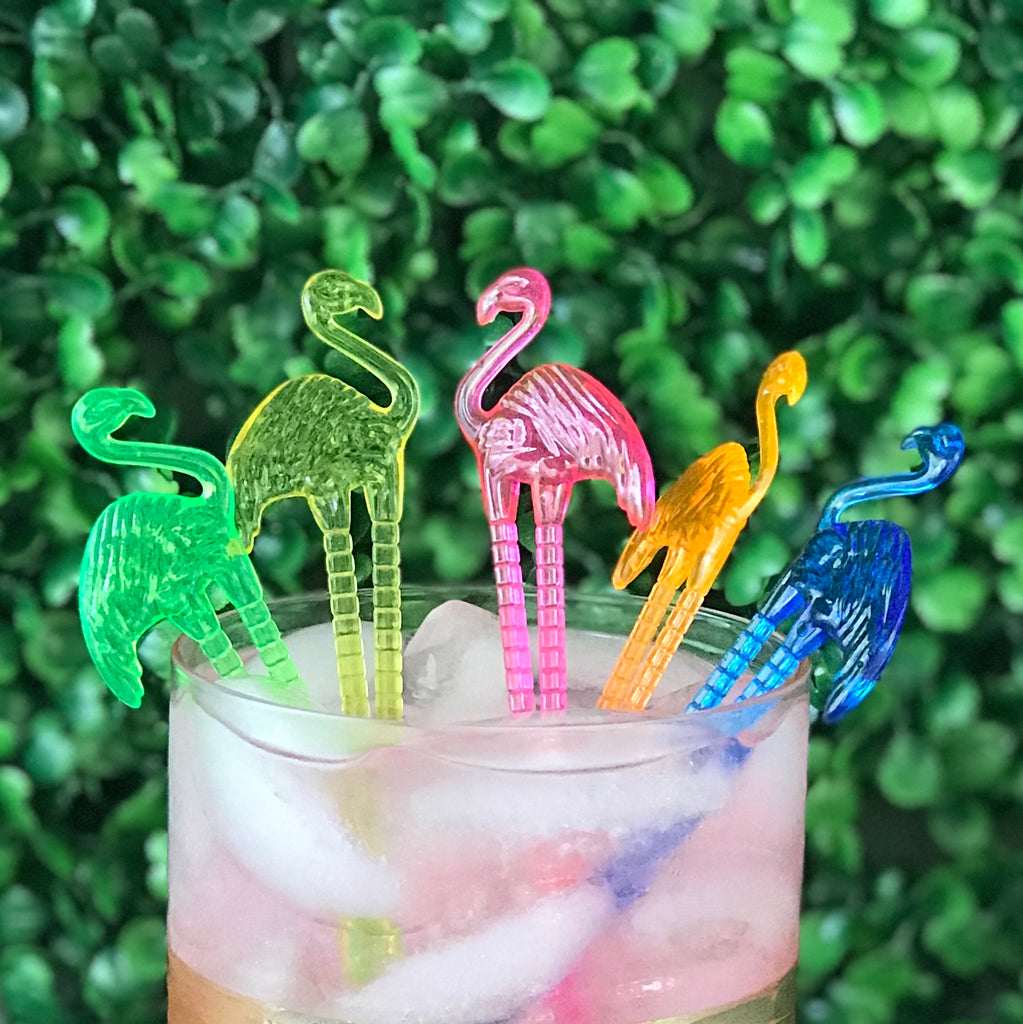 Flamingo swizzle sticks