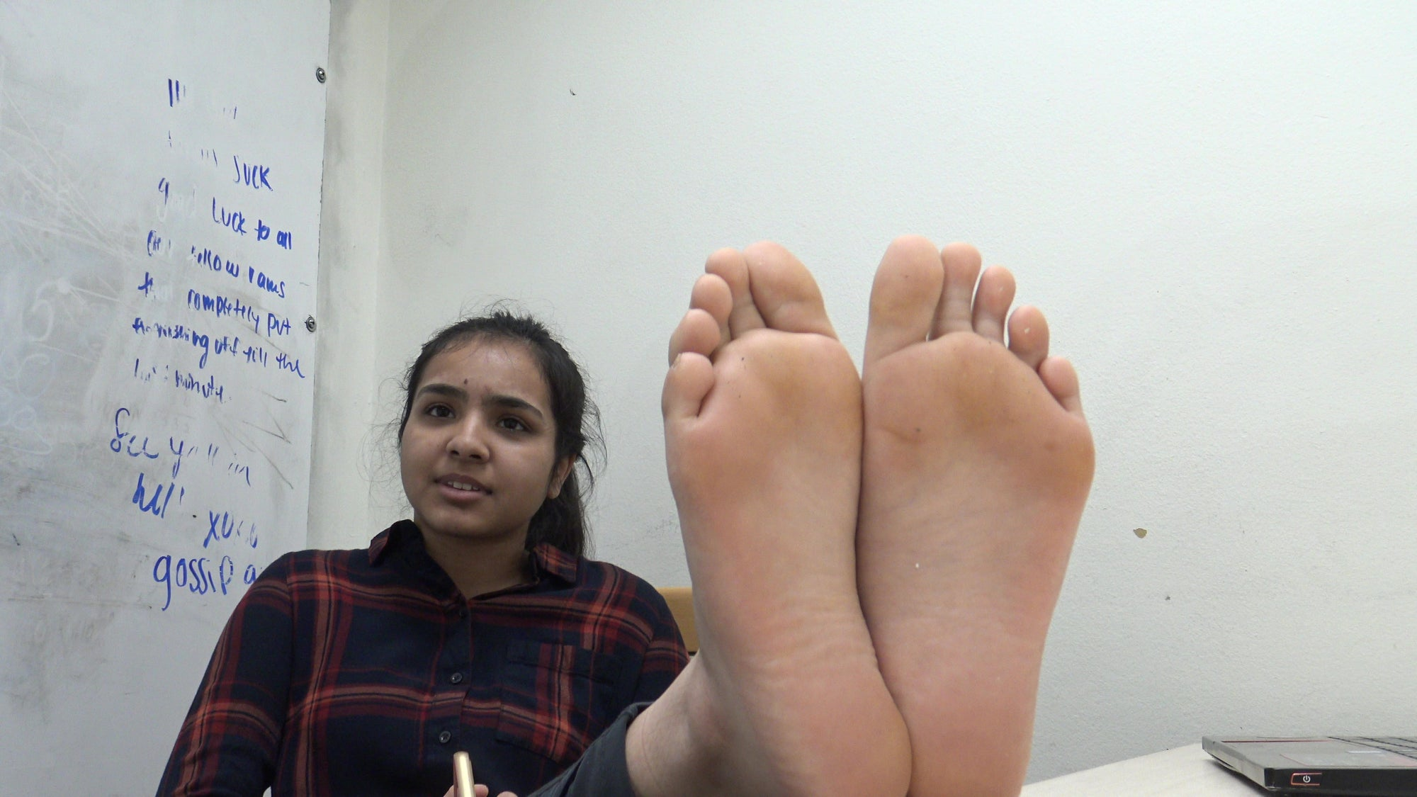 Bangladesh Indian Girl Stinky Feet After Gym Workout Part 1