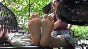 Lindsey Candid College American Feet Toes & Soles 4K Duration 8 Minutes Part 1