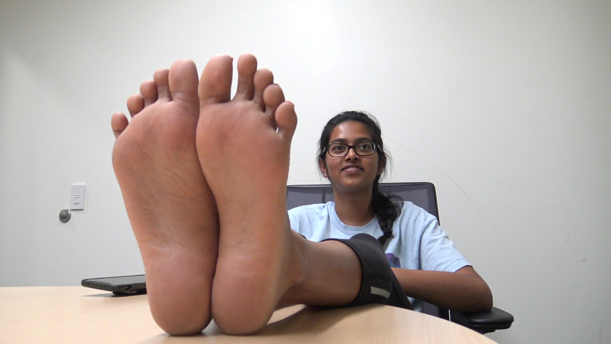Indian Petite College Students Red Feet Soles Part 1