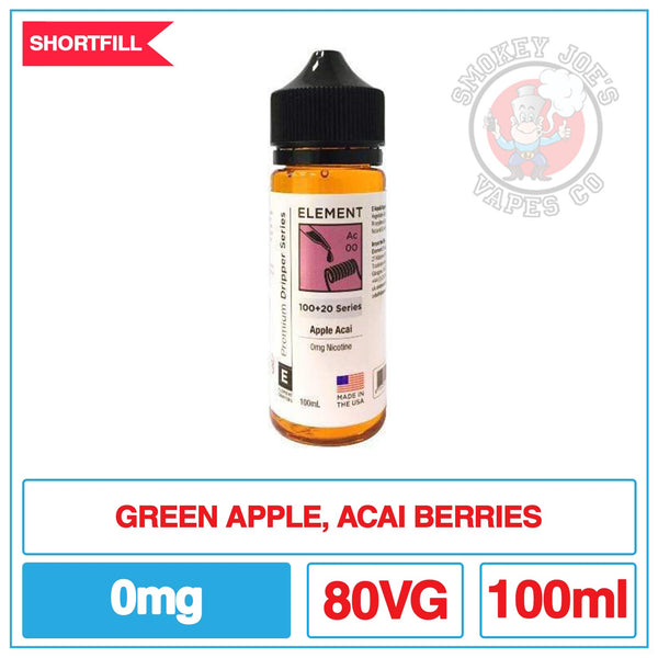 Elements - Apple Acai - 100ml| Smokey Joes Vapes Co