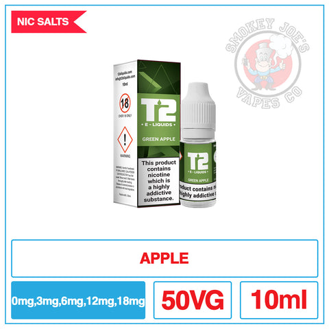 T2 - Nic Salt - Green Apple | Smokey Joes Vapes Co