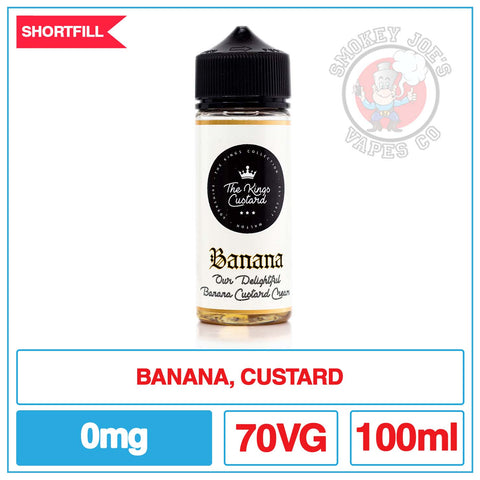 The Kings Custard - Banana - 100ml | Smokey Joes Vapes Co