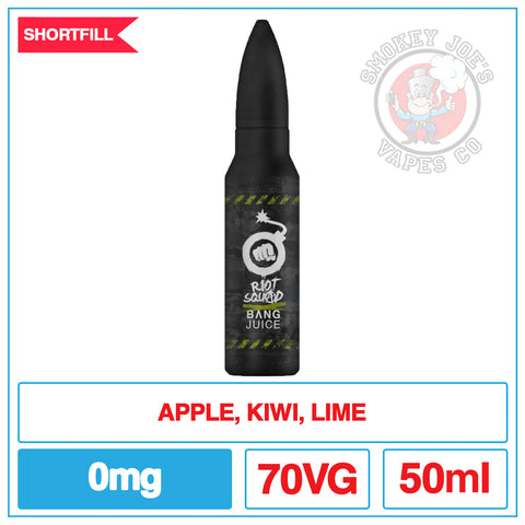 Bang Juice Kiwi Coalition - 50ml | Smokey Joes Vapes Co