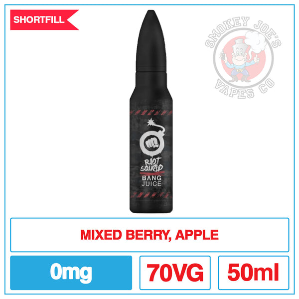 Bang Juice Wild Berry Fusion - 50ml | Smokey Joes Vapes Co
