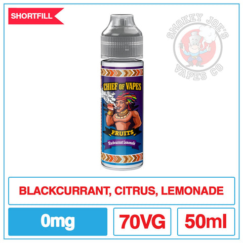Chief Of Vapes - Blackcurrant Lemonade | Smokey Joes Vapes Co