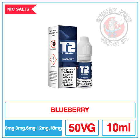 T2 - Nic Salt - Blueberry | Smokey Joes Vapes Co