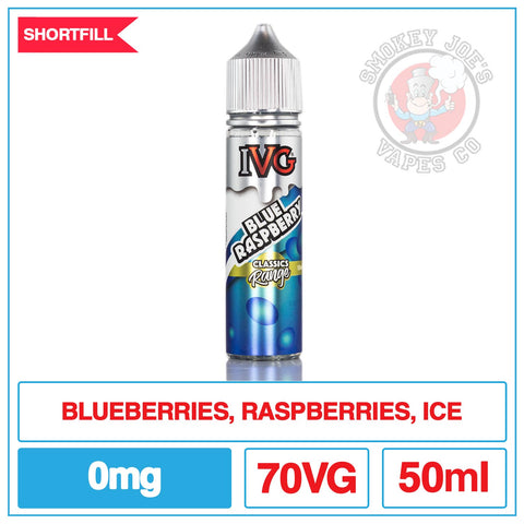IVG - Blue Raspberry - 50ml - 0mg | Smokey Joess Vapes Co