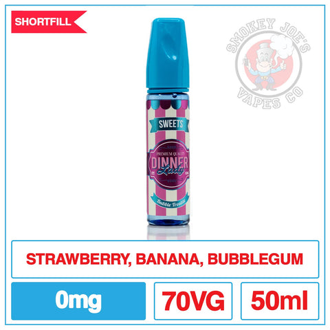 Dinner Lady - Tuck Shop - Bubble Trouble - 50ml - 0mg - Front Of Bottle | Smokey Joes Vapes Co