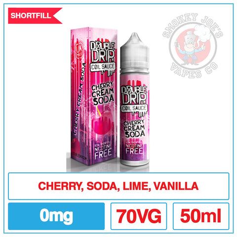 Double Drip - Cherry Cream Soda - 50ml| Smokey Joes Vapes Co